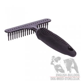 English Bulldog Grooming Brush Rake for Coat Care