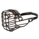 Wire Dog Muzzle Frostproof Rubber Covered for American Bulldog