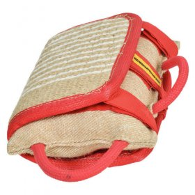 Dog Bite Pillow with Removable Jute Cover for Bulldog Training