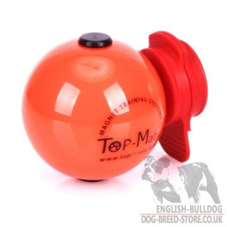 Dog Training Magnetic Ball Top-Matic with MAXI Power-Clip for Bulldog