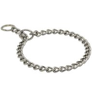 Choker Dog Collar Chrome Plated for Bulldog Behavior Control