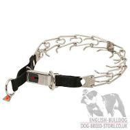 Herm Sprenger Pinch Collar with Click Lock Buckle for Bulldogs