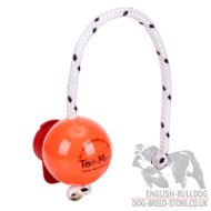 Big Hard Plastic Dog Ball Top-Matic with MAXI Power-Clip for Bulldog