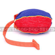 Bite Tug of French Linen with T-Shape Handle for Young Bulldog