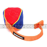 Bite Tug of French Linen with T-Shape Handle for Bulldog Puppy