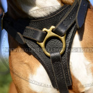 Boxer Dog Leather Harness for Easy Walking and Tracking
