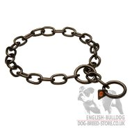 Bulldog Collar by Herm Sprenger, Black Stainless Steel Fur Saver
