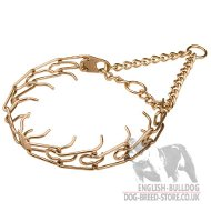 Bulldog Collar Pinch of Curogan, Antiallergic and Strong Alloy