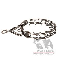 Bulldog Collar with Prongs, Steel with Antique Copper Plating