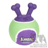 "Bulldog Dog Toy Ball ""Jumball"" with Handles"