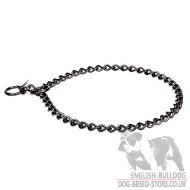 English Bulldog Training Black Stainless Steel Chain Dog Collar