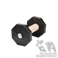 Dog Dumbbell of Wood and Plastic for Bulldog Training to Fetch