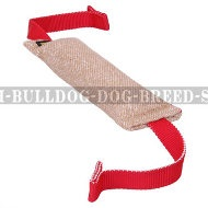 Dog Bite Tug of Jute with 2 T-Shape Handles for Bulldog Training