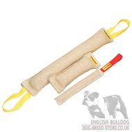Dog Training Set of Three Jute Bite Tugs for Bulldogs - Discount