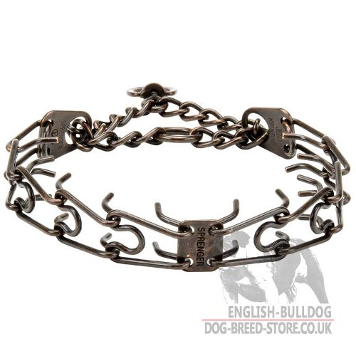Bulldog Collar UK, Antique Copper Plated Prongs