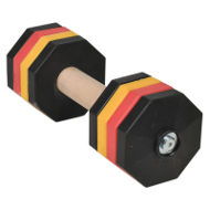 Dog Dumbbell Multicolor with 8 Removable Weight Plates, 2 Kg