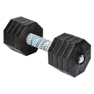 Dog Dumbbell with 8 Black Removable Plates - 4.4 lbs