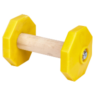 Dog Training Dumbbell of 1.4 lbs, Yellow Removable Plates