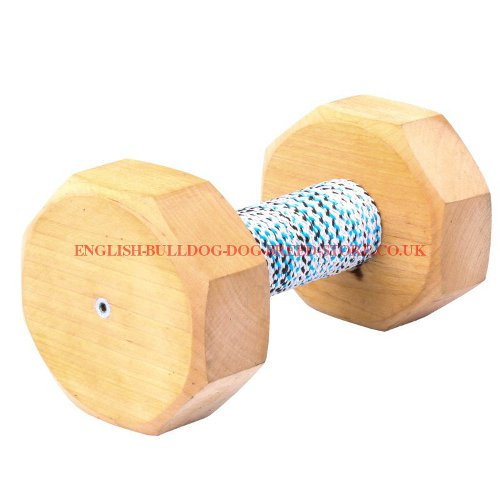 Dog Dumbbell UK Wooden