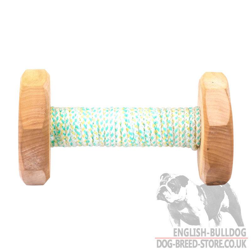 Wooden Dog Training Dumbbell For Bulldog Puppy 2255