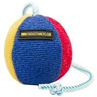 Dog Training Toy on Rope for Bulldog, Soft Ball of Large Size