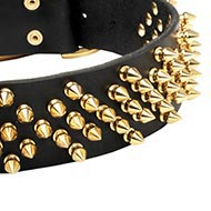 """Beesting"" Pricky Style Modern English Bulldog Spiked Collar"