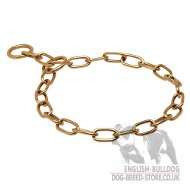 English Bulldog Collar Choker Fur Saver of Non-Allergic Curogan