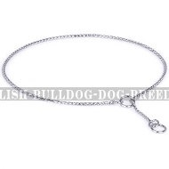 English Bulldog Collar for Dog Shows, Steel Chrome-Plated Chain