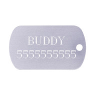 English Bulldog ID Tag Name Plate Custom Engraved for Dog Safety