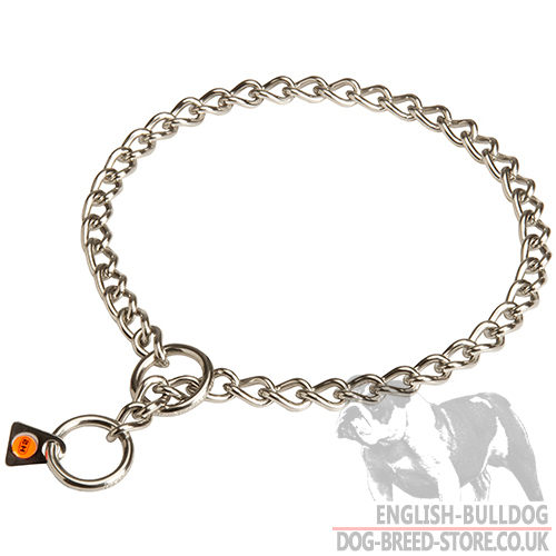 Dog Choke Collar for English Bulldog by Herm Sprenger