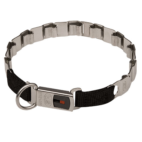 Stainless Steel Collar for Bulldog, Neck Tech Design, 19 Inch