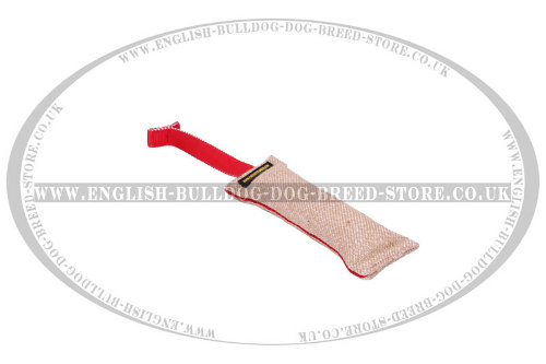 Dog Bite Tug of Jute with T-Shape Handle and Inseam for Bulldog