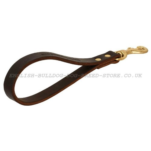 Short Dog Leash, Leather Pull Tab Dog Lead for Bulldog Control