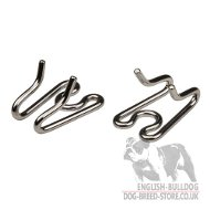 Links for Bulldog Collar, Chrome-Plated Steel, 1/8 Inch, 3.25 mm
