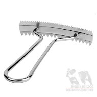 Bestseller! Dog Grooming Tool, Nickel-Plated Metal Rake for Bulldog Shedding