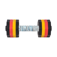 Plastic Dumbbell for Dogs with French Linen Covered Plank
