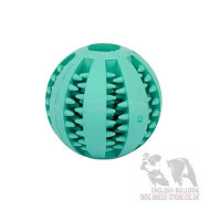 Dog Dental Care Rubber Ball, Chew Toy Mint Flavored for Bulldog