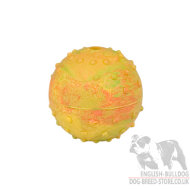 Rubber Dog Toy Ball with Bell Inside for English Bulldog