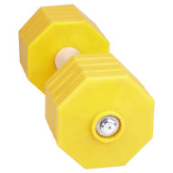 IGP Dumbbell for Bulldog, Yellow Removable Weight Plates