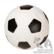 Soccer Ball Dog Toy of Rubber with Squeaker for English Bulldog