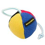 Soft Dog Ball Toy on String for Bulldog Puppy Games & Training